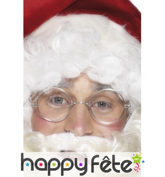 Lunettes rondes de père Noël