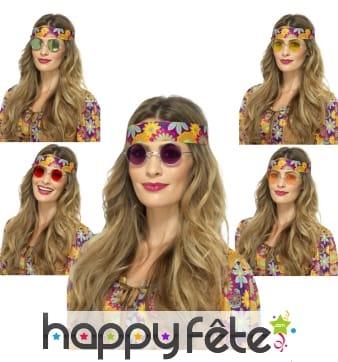 Lunettes rondes de style hippie