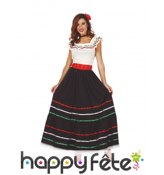 Longue robe mexicaine pour femme