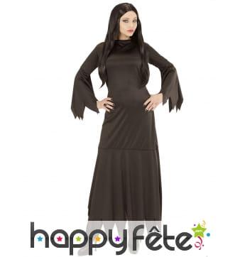 Longue robe noire pointue de sorcière, adulte