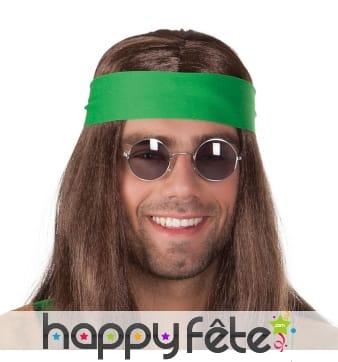 Lunettes rondes noires style hippie