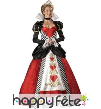 Large robe reine de Coeur pour femme, premium