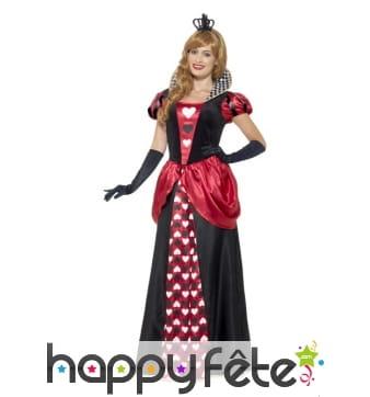 Longue robe reine de coeur pour femme adulte
