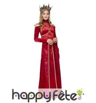 Longue robe rouge de Melisandre of Asshai, femme