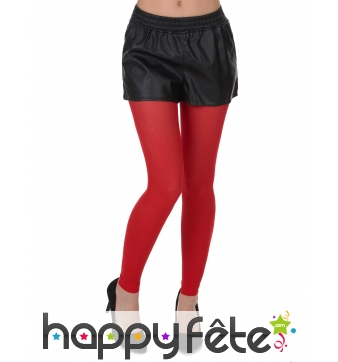 Legging rouge semi-opaque