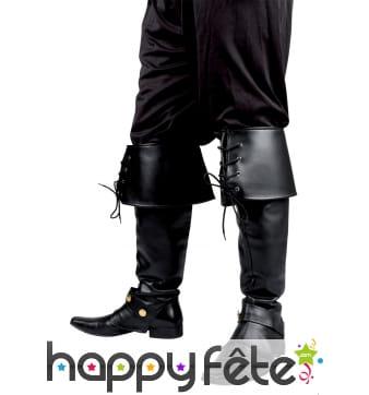 Luxueuses sur-bottes noires de pirate