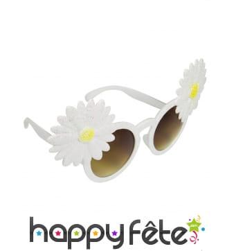 Lunettes style hippie avec marguerites