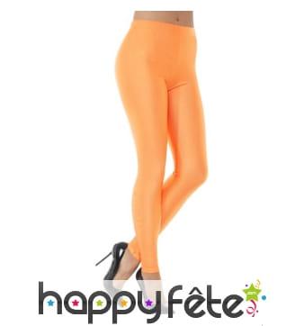 Legging spandex orange fluo années 80