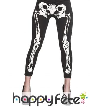 Legging squelette pour femme