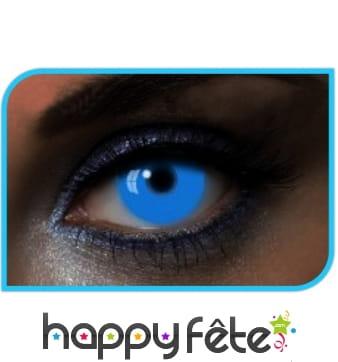 Lentilles UV bleues