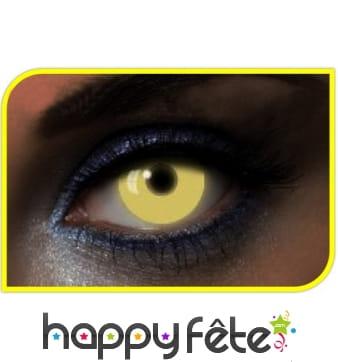 Lentilles UV jaunes