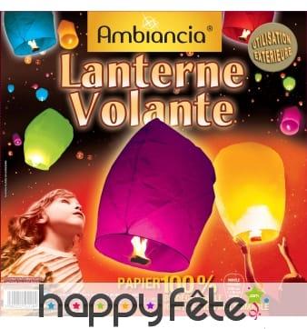 Lanterne volante assortiment de couleurs