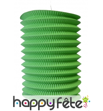 Lampion vert cylindrique