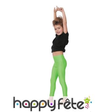 Legging vert néon pour enfant