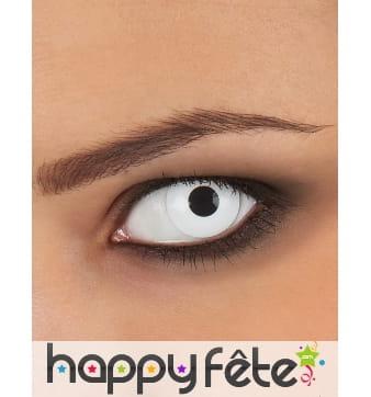 Lentille yeux blancs avec correction usage unique