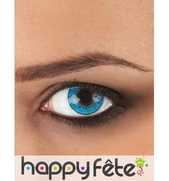 Lentilles yeux bleu gris
