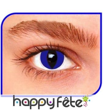 Lentilles yeux de chat bleu