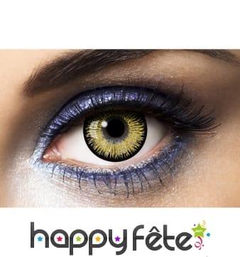 Lentilles yeux or