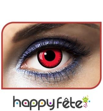 Lentilles yeux rouges contour noir