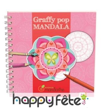 Mandala à colorier, modèles féminins