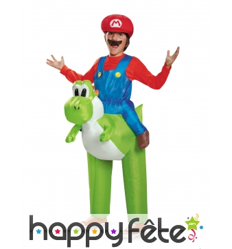 Mario à dos de Yoshi gonflable pour enfant