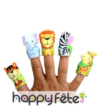 Marionnette animal du zoo pour doigt