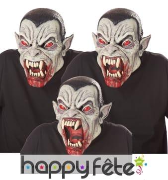 Masque articulé de monstre zombie ensanglanté