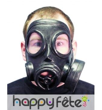 Masque a gaz en plastique