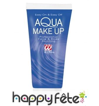 Maquillage à l'eau bleu en tube de 30ml