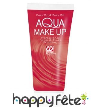 Maquillage à l'eau rouge en tube de 30ml