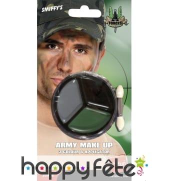 Maquillage armée (marron, vert, noir)