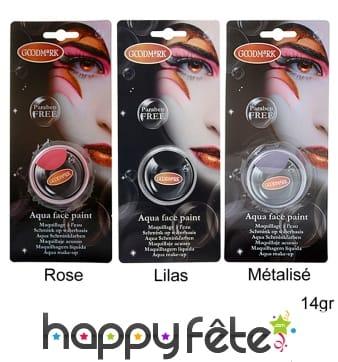 Maquillage aquacolor sans paraben, 14gr