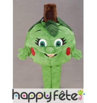 Mascotte artichaut vert
