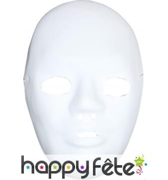 Masque blanc avec front a peindre et décorer