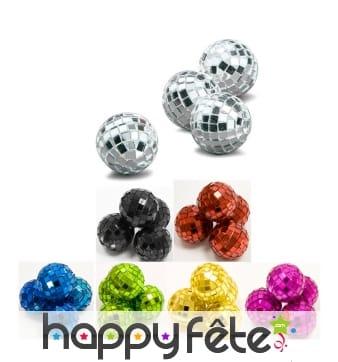 Mini boules à facettes de 3.5cm