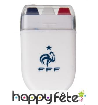 Maquillage bleu blanc rouge FFF