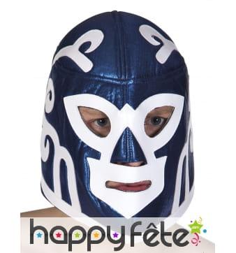 Masque bleu de catcheur pour adulte