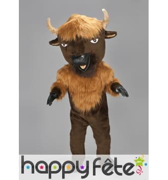 Mascotte bison marron