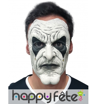 Masque blanc noir de arlequin démoniaque