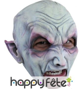Masque bouche ouverte de vampire blanc