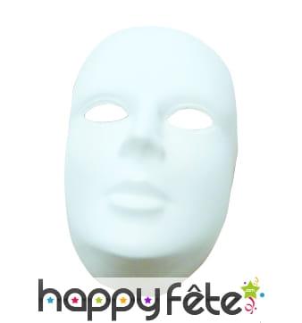 Masque blanc plastique a peindre avec front
