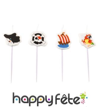 Minis bougies pirate sur pique