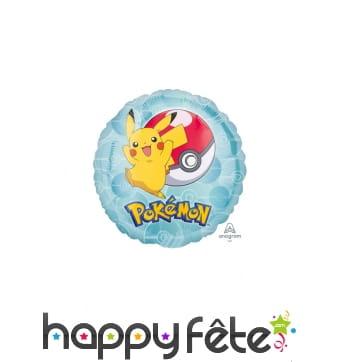 Mini ballon rond Pikachu de 23 cm, en alu