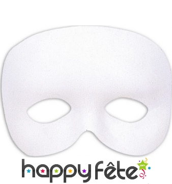 Masque blanc uni demi-visage
