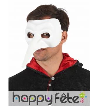 Masque blanc uni docteur de la peste