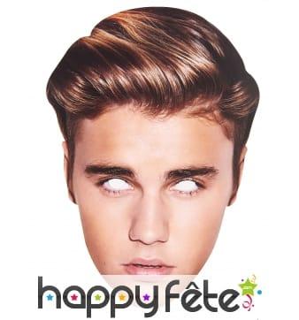 Masque carton de Justin Bieber en carton