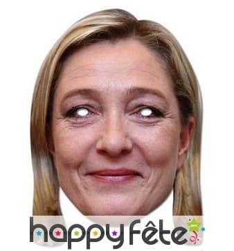 Masque carton de Marine le Pen