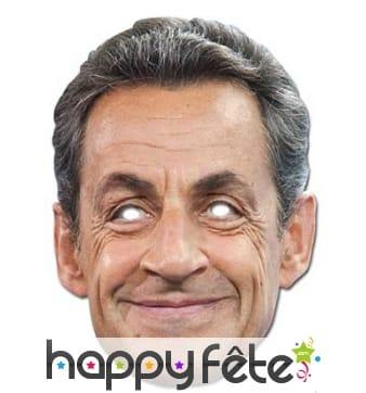 Masque carton de Nicolas Sarkozy