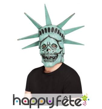 Masque crâne de la statue de la liberté intégral