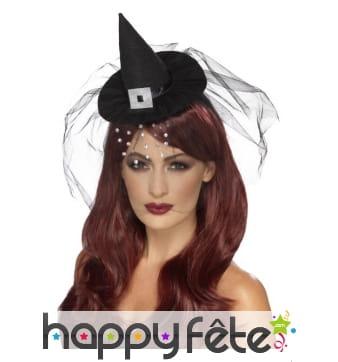 Mini chapeau de sorcière sur serre-tête
